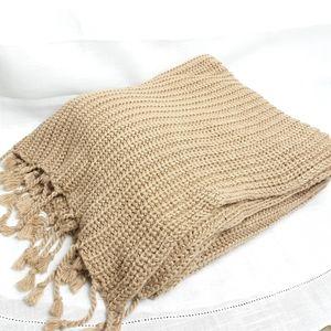 Pottery barn Austin chunky knit  throw blanket